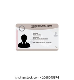 Voting card example, Mexico Elections 2018, elecciones Mexico 2018 spanish text