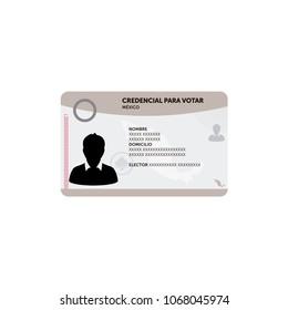 Voting card example, Mexico Elections 2018, elecciones Mexico 2018 spanish text
