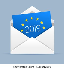 Voting envelope icon for European elections 2019