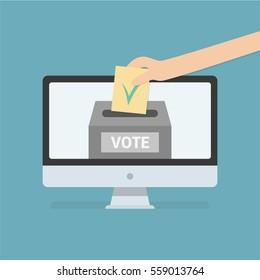 Voting online vector icon