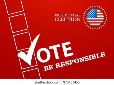 Voting Symbols design presidential election vector illustration