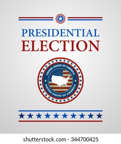 voting symbols vector design presidential election