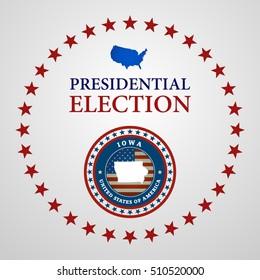 Voting Symbols vector design presidential election