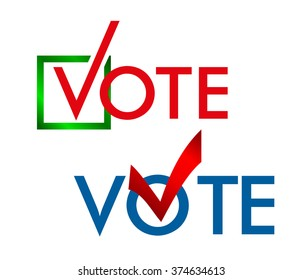 Voting Symbols vector design. template Elections icons. check marks. Vector cast your vote button. poll icon.