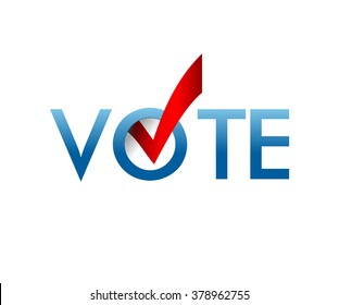 Voting Symbols vector design. template Elections icons. check marks. Vector blue. vote label. Vote, poll icon.