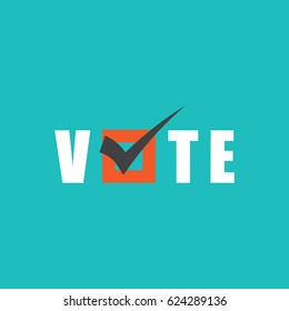 Voting Symbols vector design. template Elections icons. check marks. Vector green. vote label. Vote, poll icon.