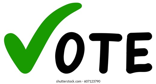 Voting Symbols vector hands design. Elections icons template.green check marks. Vector label vote. Vote elections a referendum