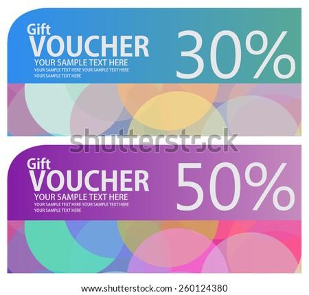 voucher coupon gift certificate ticket template stock vector