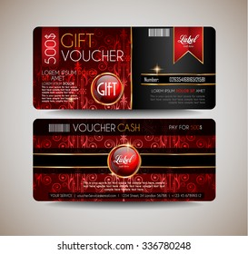 restaurant gift voucher flyer template delicious の写真素材 今すぐ