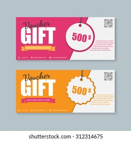 Voucher, Gift certificate, Coupon template.