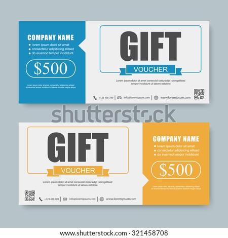 Coupon Template | Voucher Gift Certificate Coupon Template Stock Vektorgrafik