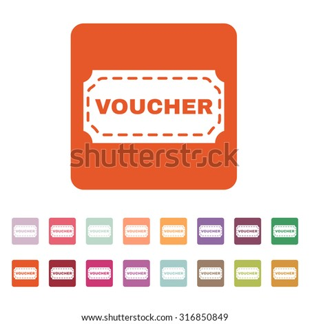 Voucher Icon Coupon Gift Offer Discount Stock Vector Royalty Free