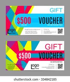 creative discount voucher gift card coupon stock vector royalty