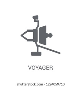 Voyager icon. Trendy Voyager logo concept on white background from Astronomy collection. Suitable for use on web apps, mobile apps and print media.