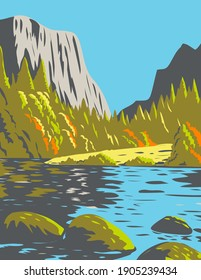 Voyageurs National Park During Fall in Minnesota United States of America WPA Poster Art