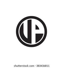VP initial letters circle monogram logo