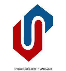 VP initial logo - UP initial logo