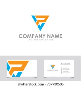 VP initial logo design