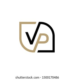 VP initial logo vector, initial brand name, clean and strong company logo design