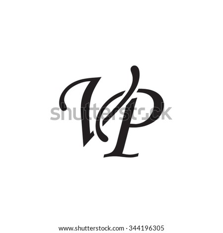 Vp Initial Monogram Logo