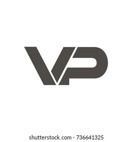VP logo initial letter design template vector