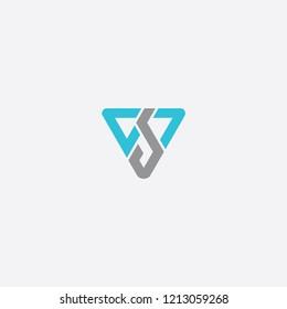 vp triangle initial logo