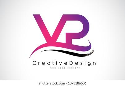 VP V P Letter Logo Design in Black Colors. Creative Modern Letters Vector Icon Logo Illustration.
