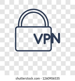 VPN icon. Trendy VPN logo concept on transparent background from Technology collection