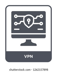 vpn icon vector on white background, vpn trendy filled icons from Technology collection, vpn simple element illustration