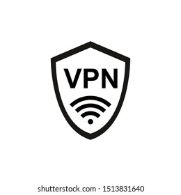VPN icon vector. Virtual Private Network icon. Internet Security VPN Concept Icon