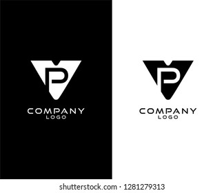 vp/pv Initial abstract company Logo Template Vector