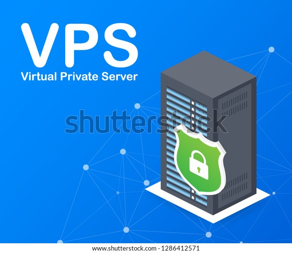 Vps Virtual Private Server Web Hosting Stock Vector (Royalty