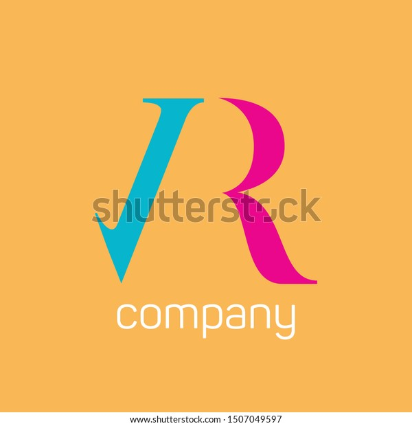 Vr Company Logo Design Monogram Letters Stock Vector Royalty Free 1507049597