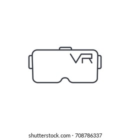 VR glasses, goggles, virtual reality 360 thin line icon. Linear vector illustration. Pictogram isolated on white background