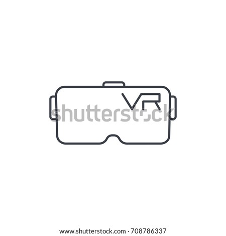 c3517a0c2fb VR Glasses Goggles Virtual Reality 360 Stock Vector (Royalty Free ...