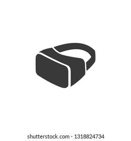 VR Glasses, googles headset vector sign isolated on white, flat design for website.