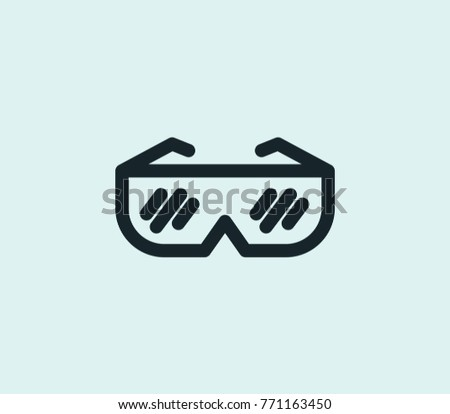 4e947ea9a54 VR glasses icon line isolated on clean background. Goggles concept drawing VR  glasses icon line in modern style. Vector illustration glasses icon for  your ...