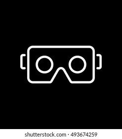 VR glasses for smartphone vector illustration. Virtual reality box for smartphone.