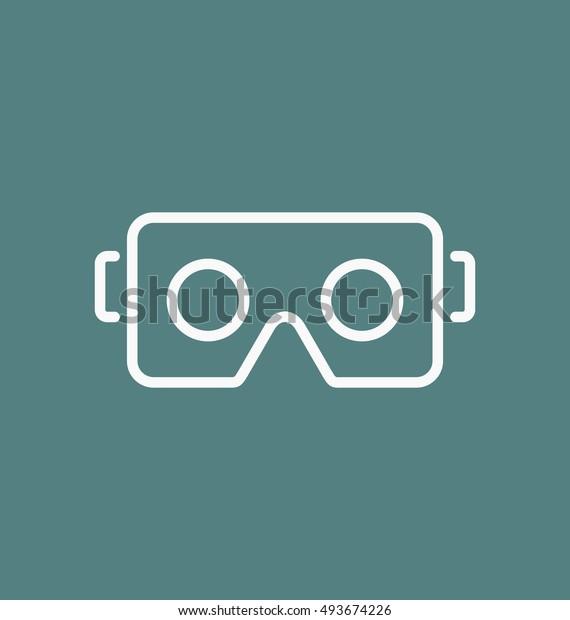 Vr Glasses Smartphone Vector Illustration Virtual Stock