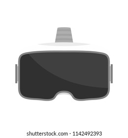 Vr glasses virtual headset icon. Flat illustration of vr glasses virtual headset vector icon for web isolated on white