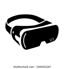 VR headset, VR glasses, goggles headset, Virtual Reality Device vector icon isolated on white background.