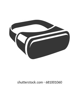 VR Headset Icon. 3D Style Virtual Reality Device. Vector