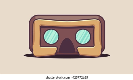 VR headset icon isolated on light background. Vector flat style
