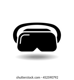 VR headset icon. vector