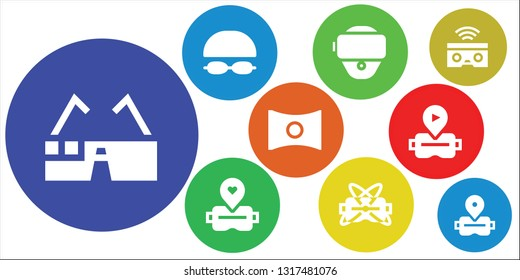 1198f83c70e vr icon set. 9 filled vr icons. Collection Of - Virtual glasses