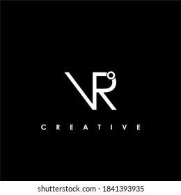 VR Letter Initial Logo Design Template Vector Illustration