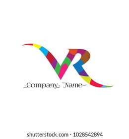 VR letter or VR logo design