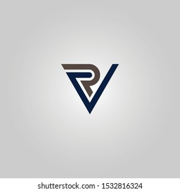 VR or RV logo and icon designs