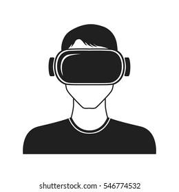 vr vector icon. virtual reality glasses. virtual reality
