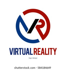 VR VIRTUAL REALITY LOGO ICON SYMBOL